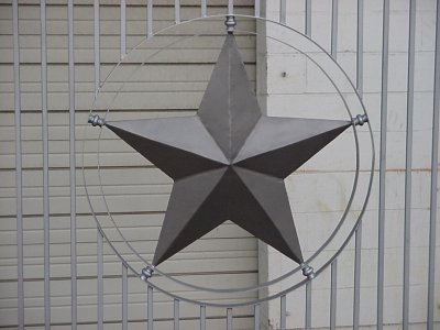 Wrought Iron with Star Gate Closeup